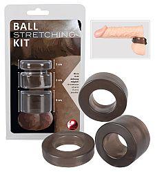 Ball - sada krúžkov na penis - dymová farba(trojdielna)