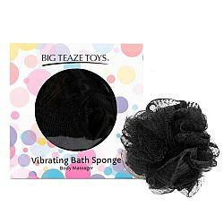 BIG TEAZE TOYS - BATH SPONGE VIBRATING BLACK