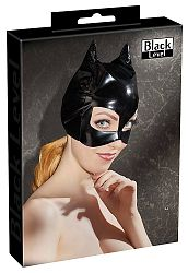 Black Level - mačacia maska z lakovej látky (čierna)
