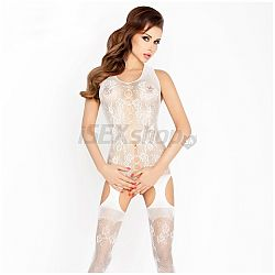 Catsuit PASSION BS012 biely