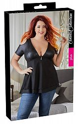 Cottelli Plus Size - cut-off shoulder top (black)