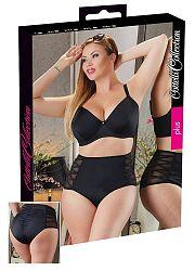 Cottelli Plus Size - side lace women's bottom (black)