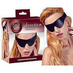 Fetish - maska na oči z imitácie kože (čierna)