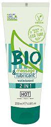 HOT Bio 2in1 – vegánsky lubrikant a masážný gél na báze vody (200ml)