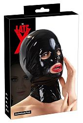 LATEX - Anatomical Head Mask (Black)