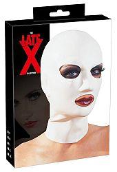 LATEX - klasická maska na hlavu (biela)