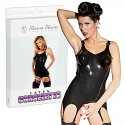Latex suspender corsage M