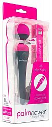 PalmPower wand - USB massager with powerbank (pink-gray)