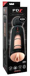 PDX Elite Mega Milker - vibračná umelá vagína na dojenie penisu (čierna)