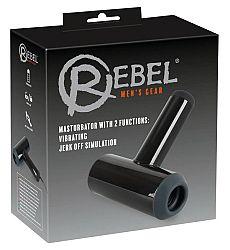 Rebel - Cordless Up and Down Vibrating Masturbator (Black)