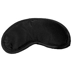 S&M Satin Black Blinfold – saténová maska na oči (čierna)