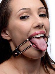 Strict - háky na otvorenie úst (čierno - strieborné)