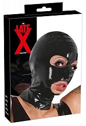 The X Late Latex Mask - latexová maska na hlavu (čierna)